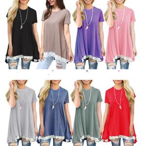 6bdca52c1e408 New Maternity clothes Summer Lace Dresses for pregnant women Short sleeve  Big sweep Plus size Wholesale