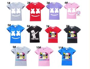 Baby boys girls Marshmello T Shirt DJ Music cotton T-shirt for summer children wear kids cute casual clothes DHL fast shipping free