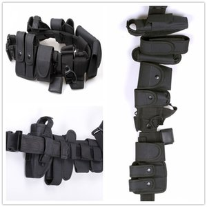 Wholesale Tactical Police Duty belt Security Belts Tactical Military Training Polices Guard Utility Kit Duty Belt with Pouch Set