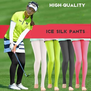 Wholesale Translucent Elastic Legging Stocking Women Sunscreen Panty hose Golf Outdoor Pants UV proof Light Thin Smooth long leg Socks