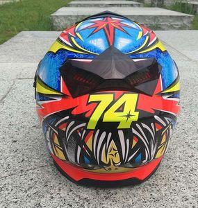 2018 summer motorcycle helmet male and female locomotive racing double lens light half helmet racing semi full cover helmet anti-fall protec