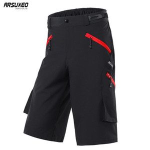Wholesale pocket bikes resale online - ARSUXEO Mens Outdoor Sports Cycling Shorts Downhill MTB Pockets Shorts Mountain Bike Hiking Fishing Water Resistant