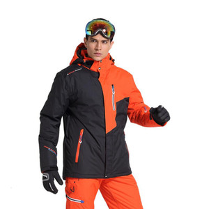 Wholesale New Outdoor Mountain Ski Top Men's Windproof Waterproof Thermal Snowboard Male Skiing Jacket Skating Clothes Thicken With Velve T190920