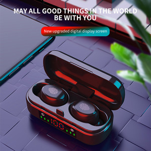 Wholesale wireless bluetooth noise canceling resale online - Wireless Bluetooth Earbuds TWS V8 Touch Control Waterproof Headphone Noise Canceling Wireless Earbuds LED Display Sports Headset