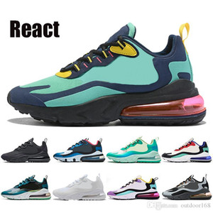 Fashion 270og React Mens Running Shoes Women Bauhaus Trainers Optical blue void Hyper Jade mesh Triple Black White sports sneakers runner