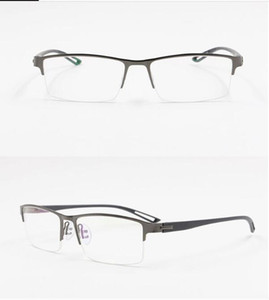 TR90 Titanium Alloy Glasses Frame Men Semi Rimless Square Eye Glass Prescription Eyeglasses Myopia Optical Frames Korean Eyewear