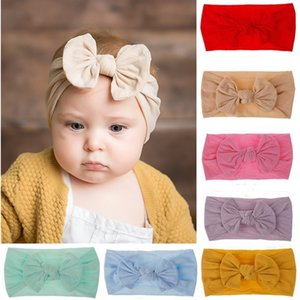 Wholesale Children Baby Headbands Bow Nylon Stockings Bow Wide Hair Band Super Soft Texture Hair Accessories Wedding Flower Girl Baby Hair Accessories