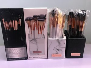 Wholesale makeup brushes holders resale online - Brand Makeup Brushes Signature Rose Gold set Brush Set For Face Eye Lip Powder Foundation Eyeshadow Cosmetics with holder