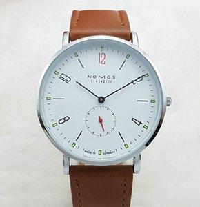 2019 New  watch Brand NOMOS Waterproof Quartz Watch Men Leather Dress Wristwatches Fashion Casual Watches Women