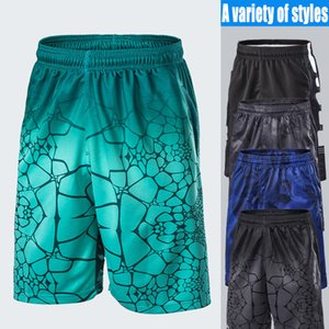 Wholesale Men s fitness shorts sportswear basketball training pants running shorts loose large size five points beach pants quick dry high elastic