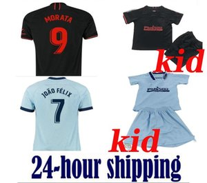 Wholesale 19 20 JOÃO FÉLIX kids kit Soccer Jerseys 2019 2020 camiseta de futbol football soccer shirt kits jerseys