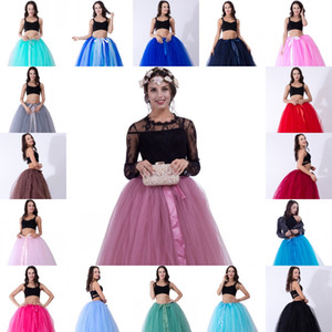 Wholesale 2020 High Quality Layers cm Summer Long Tulle Skirt Fashion Pleated TUTU Skirts Womens Lolita Petticoat Bridesmaids Dress CPA836