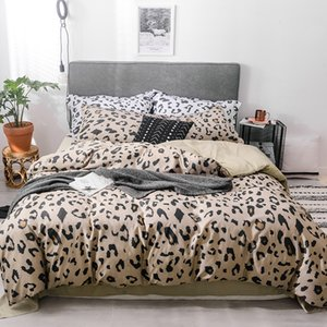 Wholesale Comforter Bedding Set Luxury Tencel Bed set Queen Size Panther Leopard Print Duvet Cover Set Environmental Bed Sheet styles