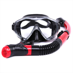 New Swimming Goggles Wide View Anti-fog with Dry Breath Snorkel for Diving Summer LMH66