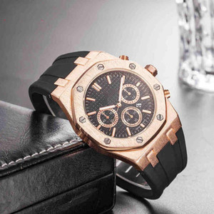 Wholesale Cheap Price Mens Sport Wrist Watch mm Quartz Movement Mens Luxury Watch with Rubber Band Royal Oak offshore Mens Designers Watch