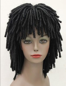 WIG FREE SHIPPING Hot heat resistant Party hair>>>>Black Africans style wig DREADLOCKS Fancy Dress RUUD GULLIT FYTLG009