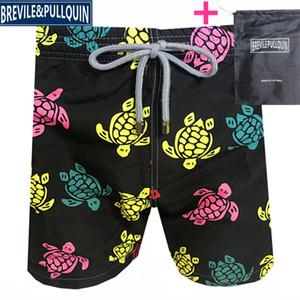 Vilebrequin Mens Beach Shorts beach pants brand 245 octopus starfish Turtle printing Swimwear male board Shorts New style Quick drying