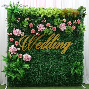 Wholesale plastic moss decor resale online - DIY Plastic Moss Lawn Artificial Green Plant Grass Flower Wall Wedding Party Window Display Photo Prop Hotel Garden Decor