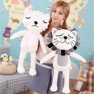 INS Comfort Plush Toys Lovely Cat Lion Stuffed Animals Cartoon Animee Gift Decoration Pillow Novelty Items CCA11008 6pcs