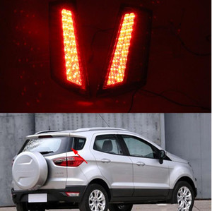 Wholesale ford rear bumpers resale online - For Ford Ecosport Led rear driving light Tail light Led Brake Lights rear bumper lamp warning