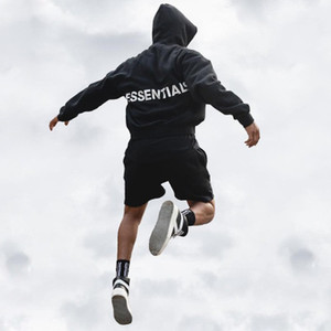 Wholesale Mens Black Loose Hoodies Letter Print Fashion Designer Sweatshirts Camouflage Male High Street FOG Casual Hoodies