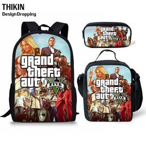 Wholesale ThiKin Grand Theft Auto Printing Kids School Bag GTA Student School Backpack Popular Game Girls Boys Daily Book Bags