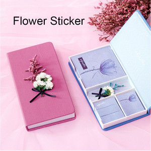 Flower Sticker,Aestheticism Sticky notes,Lovely Stationery,Color Gift Boxs,Daily Memos,School Supplies,Christmas Gifft,