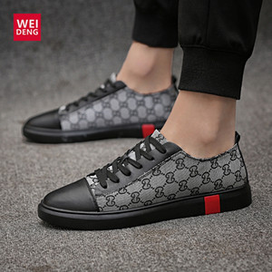 Wholesale WeiDeng Casual Cow Genuine Leather Men Flats Shoes Lace Up Fashion Male Shoes Comfortable Summer Light High Quality Plus Size
