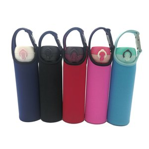 Wholesale Glass Water Bottle Sleeve Portable Bottle Cooler Cover Holder Strap for Outdoor Neoprene Insulated Collapsible Drink Bottle Covers Carrier