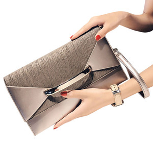 Wholesale Envelope Clutch Bag Women Leather Birthday Party Evening Clutch Bags For Women Ladies Shoulder Bag Purse Female Silver