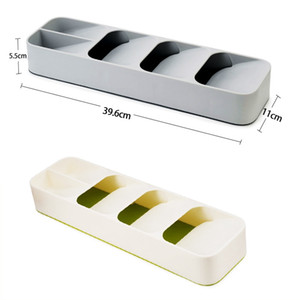 Wholesale Kitchen Drawer Organizer Tray Spoon Cutlery Separation Finishing Storage Box Cutlery Kitchen Storage Organization Top Quality EEA268