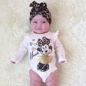Wholesale 2019 new fashion Newborn Baby Girl bodysuit long sleeve cartoon Jumpsuit Bodysuit Outfit Set Clothes M