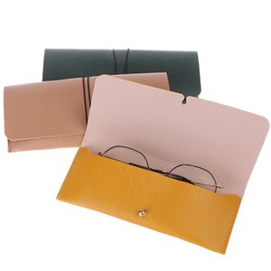 Wholesale Fashion PU Leather Cover Sunglasses Case For Women Men Glasses Portable Drawstring Soft Glasses Pouch Bag Accessories