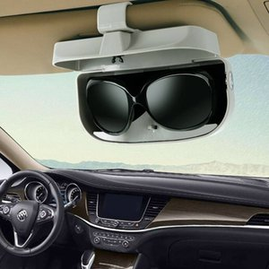 Wholesale Car Auto Sun Visor Clip Drivers Goggles Sunglass Card Ticket Storage Box Sun visor Sunglasses Holder Magnetic coin organizer