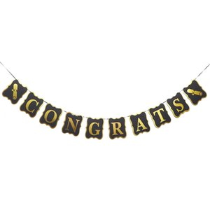 Wholesale graduation party decorations for sale - Group buy 1PC Class of Beautiful PVC Graduation Banner CONGRATS Garland Burlap for Photo Props Graduate Class Party Decorations