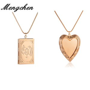 Wholesale 10PCS New Design Copper Peach Heart Square Locket Photo Frame Pendant Necklace Jewelry Gift