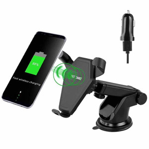 Wholesale notes stick for sale - Group buy 10pcs QI Wireless Charger Car Stick Mount Stand Holder Fast Charging for Samsung Galaxy Note S8 Plus S7