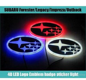 Wholesale 2019 Newest cm cm Car Emblem light for forester legacy impreza outback tribeca xv Badge Sticker LED light D logo Emblems light
