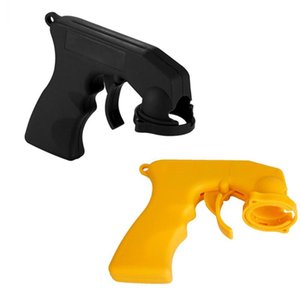 Wholesale Handle Spray Adaptor Paint Care Aerosol Spray Guns Handle with Full Grip Trigger Locking Collar Car Maintenance Yellow Black