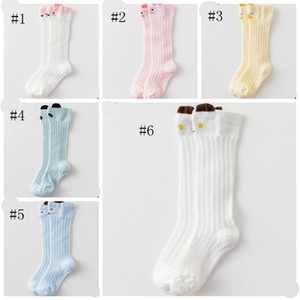 Wholesale Baby Socks Cartoon Infant Mesh Socks Newborn Anti Mosquito Socks Toddler Knee High Tights Stretch Leg Warmer Stockings 6 Designs DHW3857