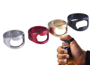 New Portable Finger Ring Bottle Opener Colorful Stainless Steel Beer Bar Tool Bottel Favors Free Shiping on Sale