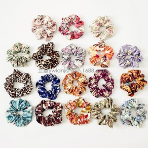 18 Color Women Girls Rose Floral color Elastic Ring Hair Ties Accessories Ponytail Holder Hairbands Rubber Band Scrunchies Sweat Sugar Color