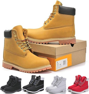 Wholesale cut couple for sale - Group buy Hot Sale Men Women Winter Outdoor Boot Couples Leather High Cut Warm Snow Boots Casual Martin Boots Hiking Sports Trainer Shoes Sneakers