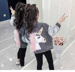 Denim Jacket for Girls Coats Children Clothing Autumn Baby Girls Clothes Outerwear Jean Jackets & Coats for Child on Sale