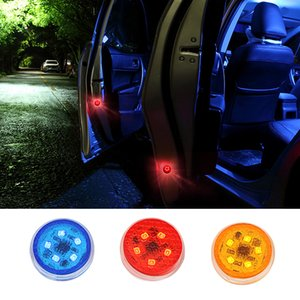 Wholesale Anti Collision LED Car styling Pieces Safely Flash Lights Strobe Flashing Car Door Opening Warning Light Magnetic Control