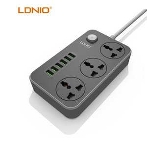 Wholesale power surge protectors resale online - LDNIO Power charger Socket USB Ports USB Power Strip Smart Home Socket Surge Protector Fast Charging Home charger for EU US UK
