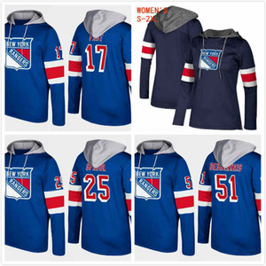 Custom NY Rangers Hoodies Boo Nieves 24 Vinni Lettieri 95 Cody McLeod 8 J.T. Miller 10 Peter Holland 12 Ryan Spooner 23 Stitched 2019 S-3XL on Sale