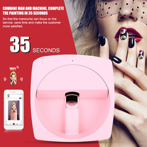 DIY Digital Mobile Nail Art Printer Portable 3D Smart Nail Painting Machine 110-240V
