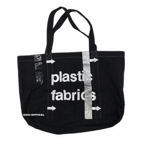 ACWPLASTIC FRAYED Distressed JUICE Limited Industrial Wind Canvas Bag Man And Woman Black High Quality Bag HFBYBB015