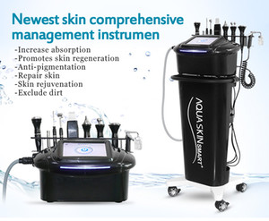 Wholesale microdermabrasion rf machine resale online - Best microdermabrasion facial RF Lifting skin rejuvenation lightening Hydro diamondFacial Machine for Skin Care cleaning with handles